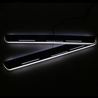 SNCN LED Car Scuff Plate Trim Pedal Door Sill Pathway Moving Welcome Light For Audi A7 R7 RS7 2012 2013 2014 2015 Waterproof