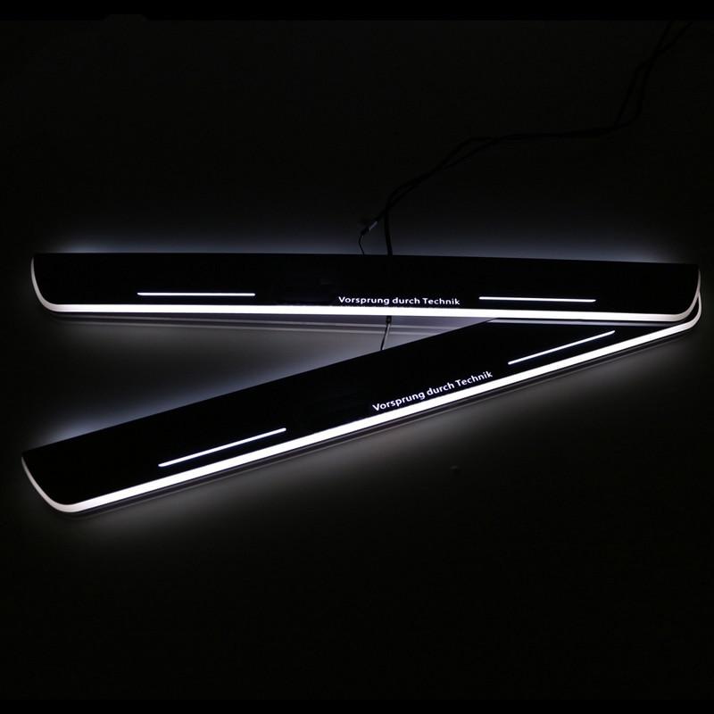 SNCN LED voiture Scuff plaque garniture pédale porte seuil voie mobile bienvenue lumière pour Audi A7 R7 RS7 2012 2013 2014 2015 étanche