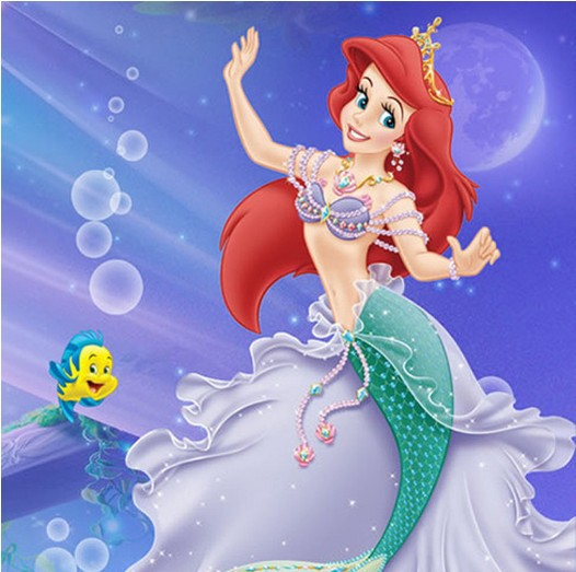 2015 Popular THE LITTLE MERMAID ARIEL Wig Long Wavy Red Cosplay Costume wig Hair + Free cap - Nawomi Wigs store