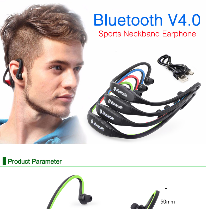 Wireless Bluetooth Earphones with Microphone Neckband Headphones for Mobile Phone Sweatproof Bluetooth Headset for Xiaomi iPhone (1)