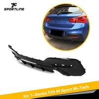 Car Rear Bumper Diffuser Spoiler Lip for BMW 1 Series F20 M Sport M135i M140i Hatchback 2 Door 4 Door 2016 2018 Carbon Fiber