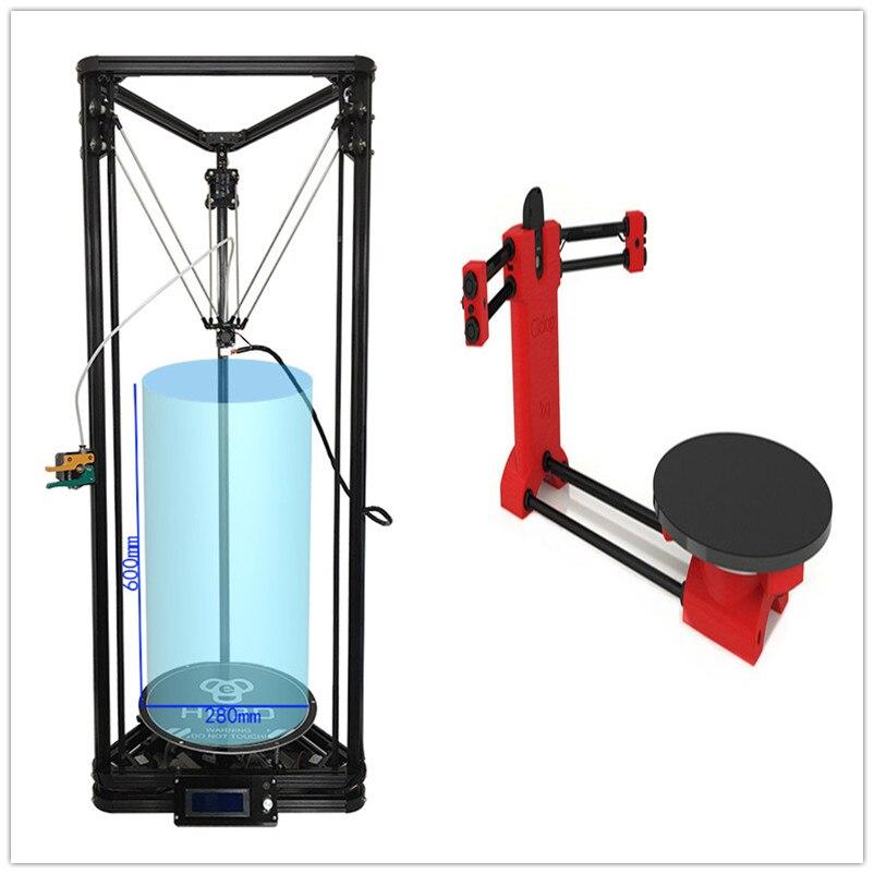 Combination sale HE3D K280 delta 3D printer large build size 280mm in diameter 600mm in height