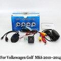 Câmera de visão traseira para volkswagen golf6 golf 6 mk6 2009 ~ 2014/rca com Ou Sem Fio do CCD de Visão Noturna/HD Lente Grande Angular Câmera