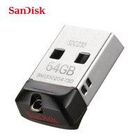 SanDisk unidad Flash USB Cruzer Fit CZ33 64GB 32GB 16GB Super Mini Pen Drive de memoria USB 2,0 de 8GB de disco U