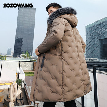 90%Down Jackets Men Winter Jacket Men Fashion Thick Warm Parkas Fur White Duck Down Coats Casual Man Waterproof Down Jackets winter jackets women 90% white duck down print colourful parkas with hooded coats long down warm casual snow outwear