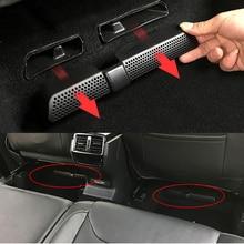 2 шт./компл. автомобильный воздушный выход обложка для Skoda Kodiaq на заднем сиденье под заднего сиденья Крышка вентиляционного отверстия кондиционера чистая