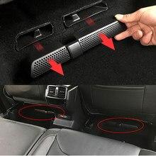 2 unids/set aire tapa de salida para Skoda Kodiaq 2016 de 2017, 2018 asiento coche aire acondicionado del asiento trasero cubierta de ventilación neto