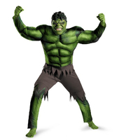 New Avengers Hulk Bruce Banner Adult Costume Muscle Set Fancy Dress Halloween Party Full Set Cosplay