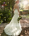2016 Elegante Strapless Mangas Bainha Vestidos de Noiva de Organza Com Appliqued Flor Do Vintage Sexy Rendas Vestidos De Noiva Plus Size