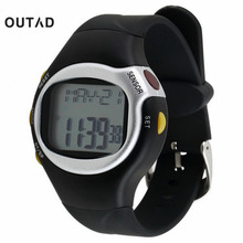 1pcs Black Pulse Heart Rate Monitor Calorie Counter Stop Watch Calorie Counter Exercise Touch Sensor 6 in 1