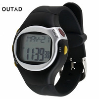 1pcs Black Pulse Heart Rate Monitor Calorie Counter Stop Watch Calorie Counter Exercise Touch Sensor 6