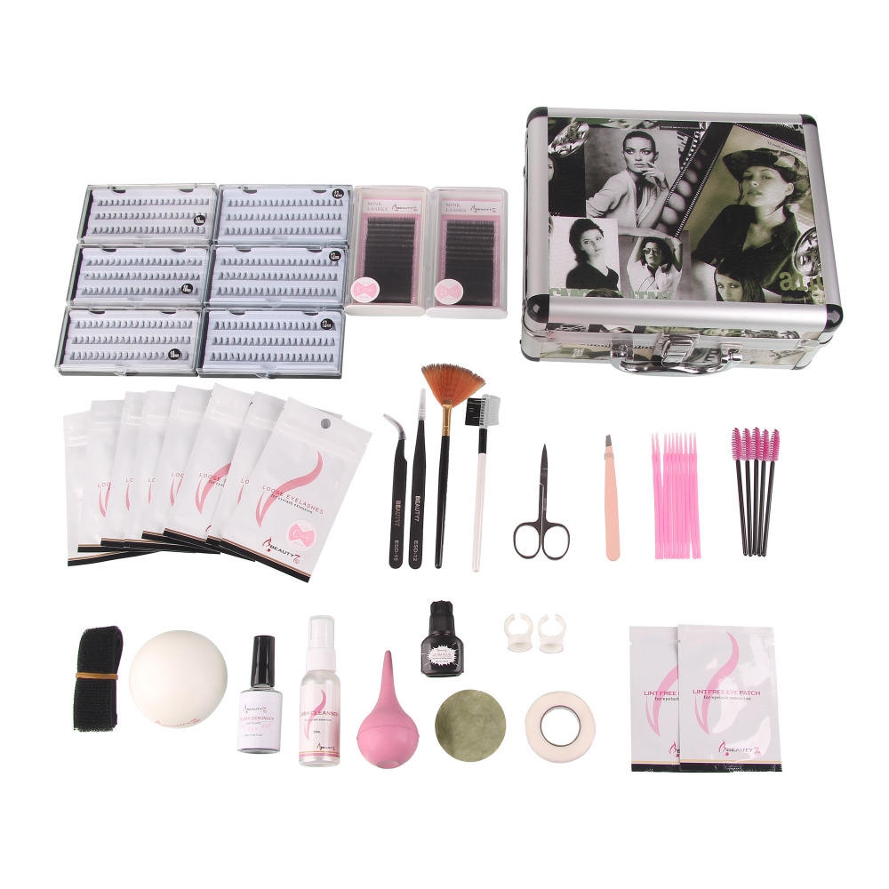 BEAUTY7 1 Set Makeup Tools Natural False Eyelash Extension Kit individual Lashes Tools Kit Makeup Mink Eyelashes Fake Eye Lashes natural false eye lash extension set kit cosmetic makeup tool individual eyelash free shipping