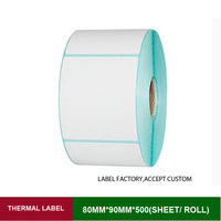 Stickers thermal labels w*h 70*90mm 300 sheets of rolling papers for electronic scale with price barcode and message