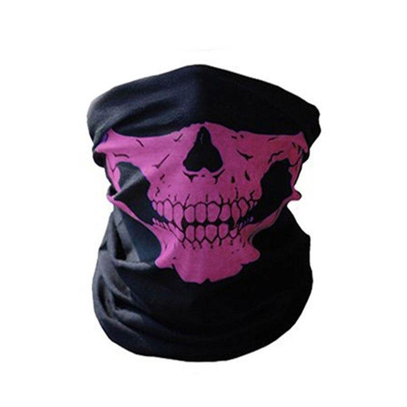 1 шт. для женщин мужчин велосипед Мотоцикл Череп Бандана Шарф средства ухода за кожей шеи маска-шлем для лица - Цвет: purple