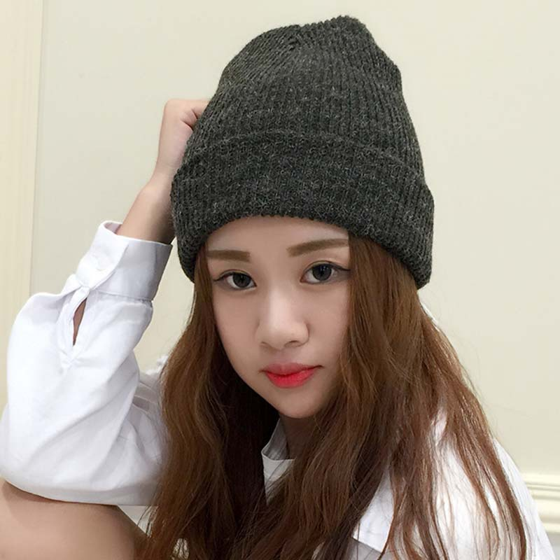FUSKARMA NEW Arrival Rabbit hair Knitted Hats men and women Casual all-match tider in autumn and winter warm ear muffs head hat