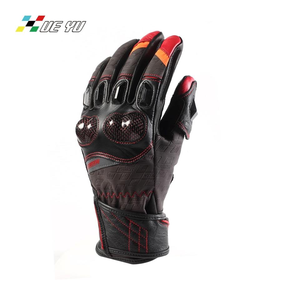 XUE YU Cow Leather Goat Skin Carbon Fiber Motorcycle Gloves Windproof Motocross Motorbike Guantes Luva Guanti Gants Moto MTO-024 цена