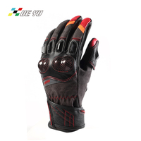 XUE YU Cow Leather Goat Skin Carbon Fiber Motorcycle Gloves Windproof Motocross Motorbike Guantes Luva Guanti Gants Moto MTO 024