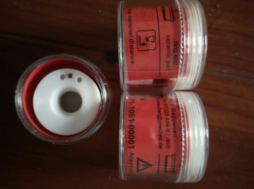 Free shipping P00571-1051-00001 Precitec ceramic laser nozzle holder KT B2ins CON ceramic part  laser precitec laser ceramic kt b2 con p0571 1051 00001 for precitec laser cutting head 32mm 28 5mm free shipping