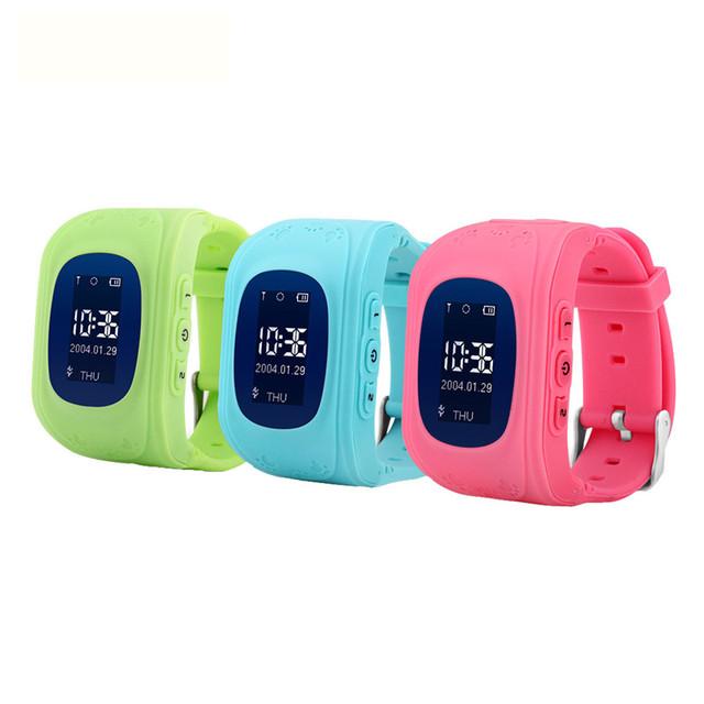 Gps location finder q50 crianças seguras smart watch relógio de pulso monitor de localizador rastreador para o miúdo anti perdido smartwatch pk q100 q90