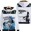 Bleach Hoody Anime Kurosaki Ichigo Getsuga Tenshou Jacket Coat Zipper Hoodies