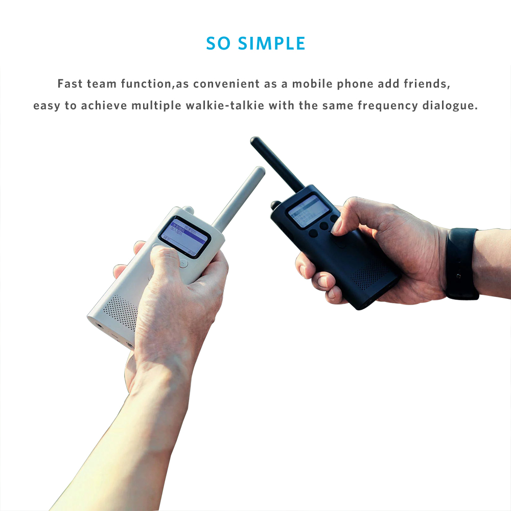 Xiaomi Smart Walkie Talkie Smartphone App Share Fast Team Talk Build 8 Days Standby With 18650 lithium ion battery Fm Radio 30a 3s polymer lithium battery cell charger protection board pcb 18650 li ion lithium battery charging module 12 8 16v