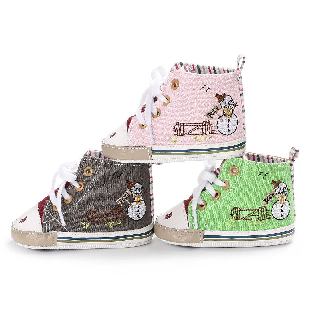 Baby Shoes Boys Girl High Top Shoe Infant Newborn Casual Canvas Prewalker Children Booties Kids Boots Sport Sneaker For 0-18 M