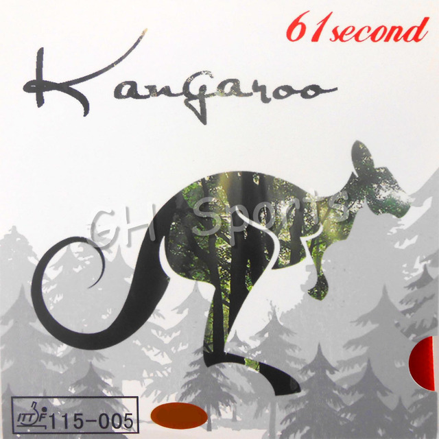 61second kangaroo Pips-in Table Tennis Rubber with white Sponge