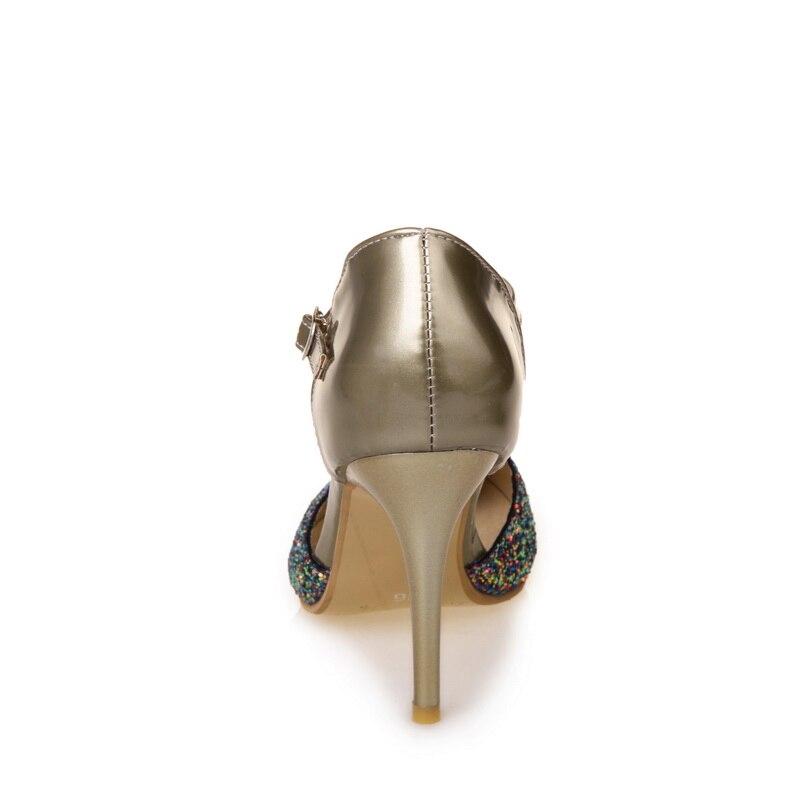 Tamaño Las De Señoras Puntiagudo Nuevo Verano La 30 Partido plata 170 Bombas 48 Y Boda Del Oro Grande Tacones Dedo Sandalias Pequeño Zapatos Pie Altos Mujer Xfx0f5