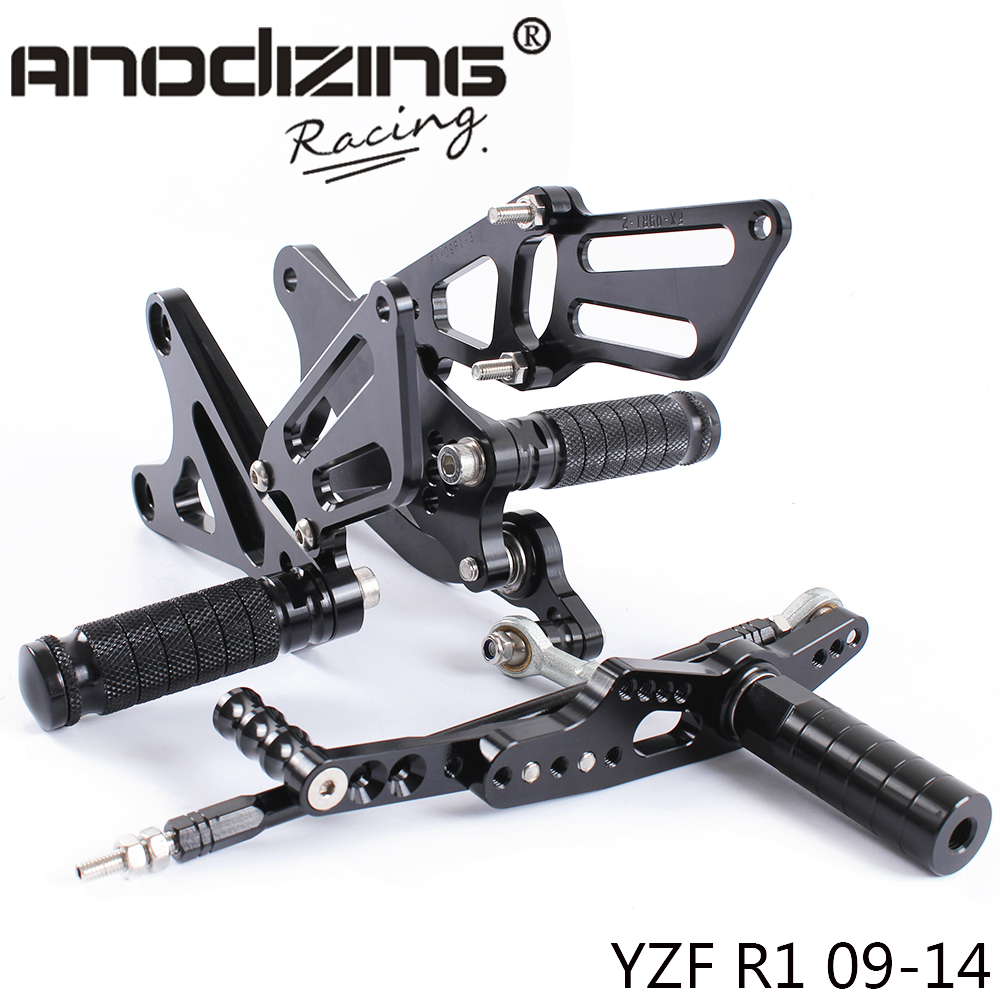 Full CNC Aluminum Motorcycle Adjustable Rearsets Rear Sets Foot Pegs For YAMAHA R1 2009 2010 2011 2012 2013 2014