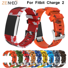 цены Silicone watch band For Fitbit Charge 2 Watchband Men's watches Strap Women's bracelet Sport Replacement watches belt Wristband