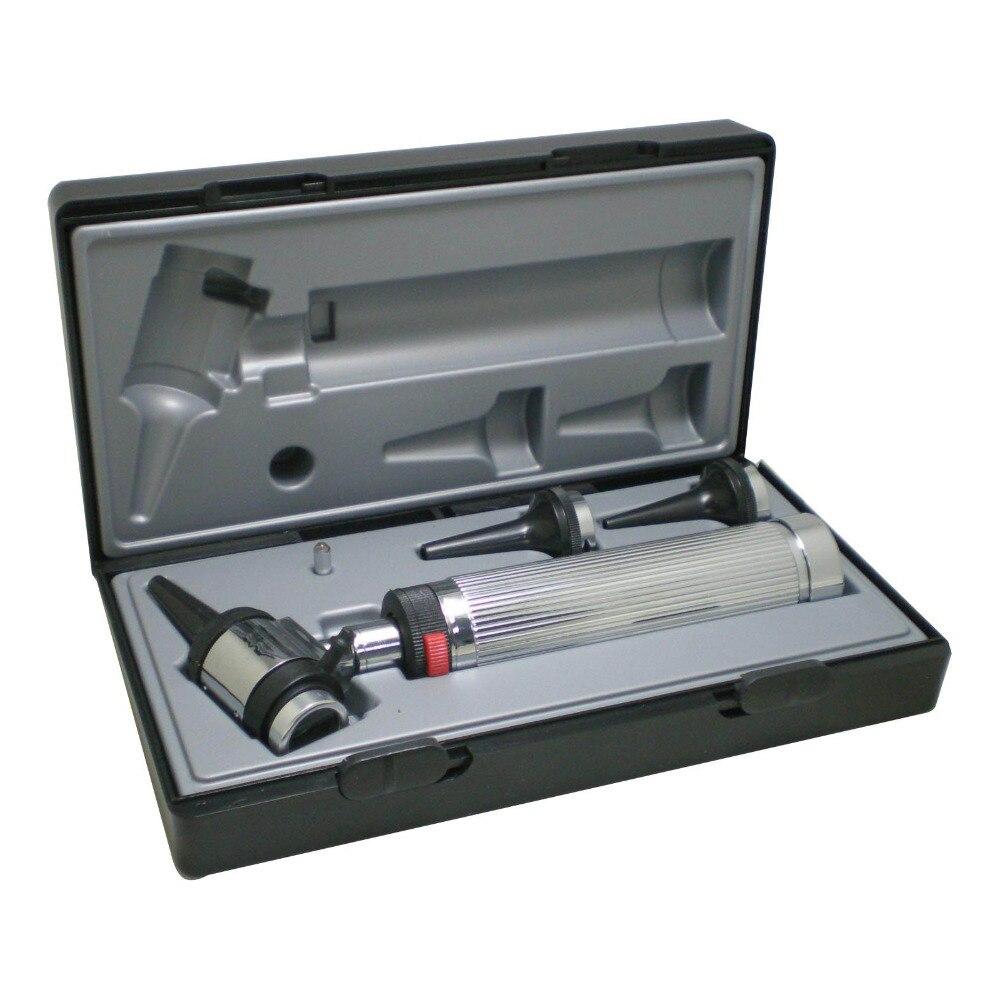 Otoscope médical d'oreille d'otoscopio de diagnostic d'utilisation professionnelle avec la lumière d'halogène 1 ensemble