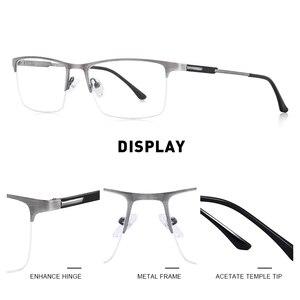 Image 2 - MERRYS DESIGN Men Titanium Alloy Glasses Frame Male Square Eye Myopia Prescription Eyeglasses Male Half Optical S2064