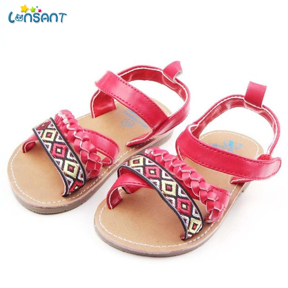 LONSANT Fashion Infant Newborn Baby First Walker Toddler Anti-slip Shoes Sandals Children Footwear Baby Toddler Shoes