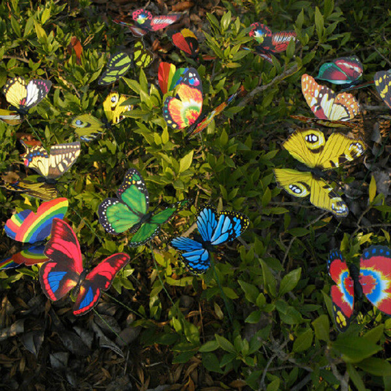 10Pcs/set Butterfly On Sticks Garden Vase Lawn Craft Art DIY Decoration  Cute Decor#83233 In Artificial U0026 Dried Flowers From Home U0026 Garden On  Aliexpress.com ...