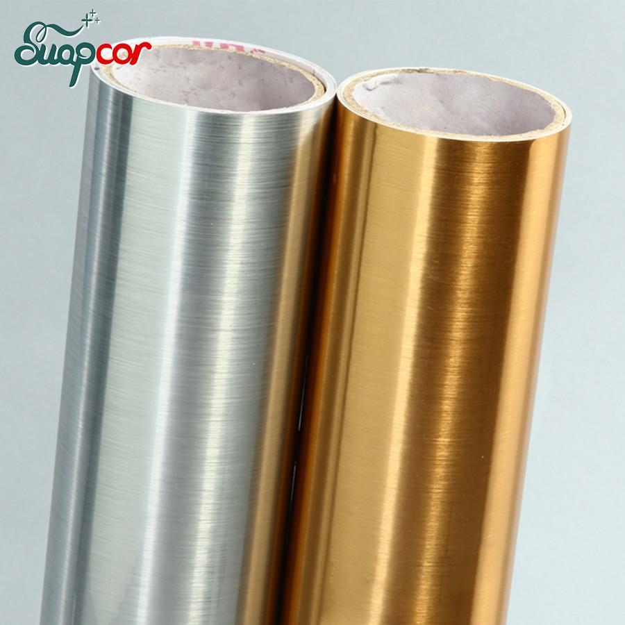 Efektet e argjendta metalike me furça të artë / Stickers Rinovimi i mobiljeve
