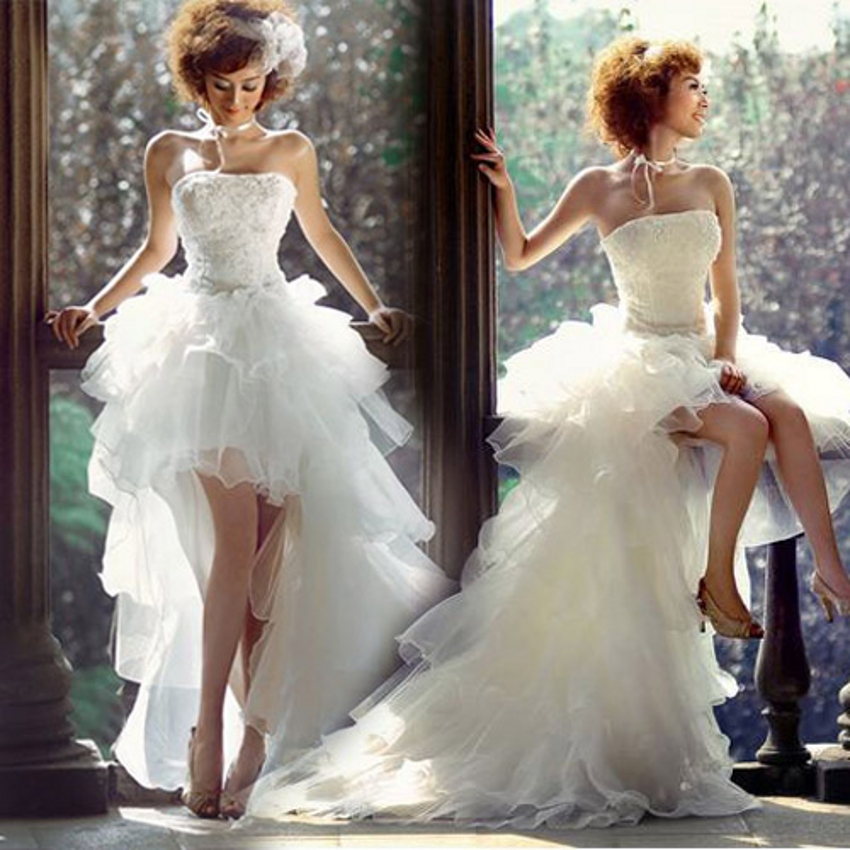 Buy china high low wedding dress short for Wedding dress high low
