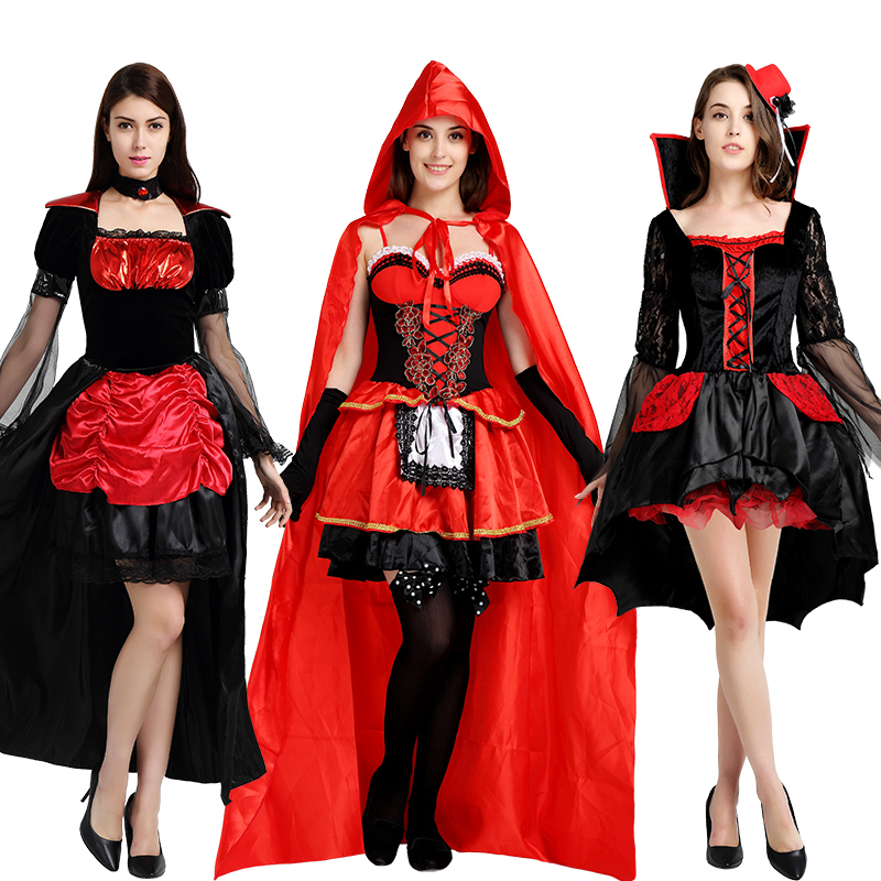 Halloween costume angel clothing horror adult women cosplay wizard ghost vampire clothes sets fancy dress