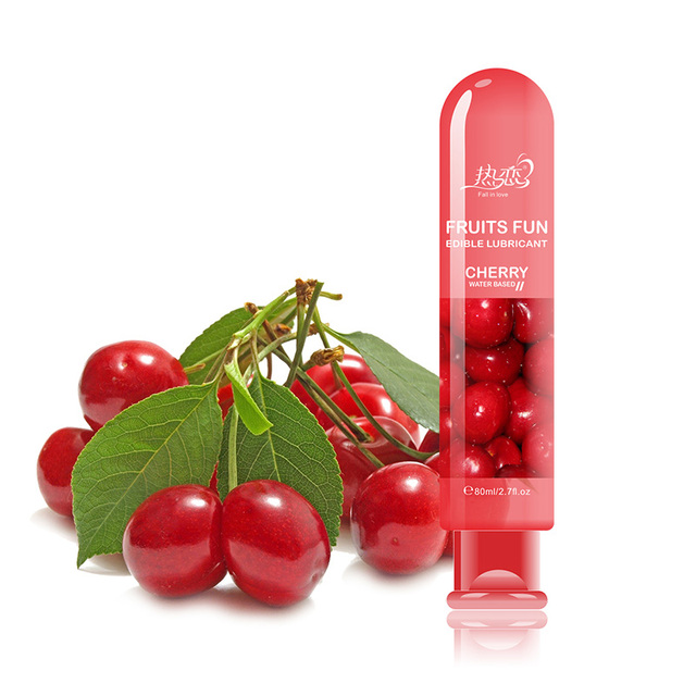 Cherry Water Based Lubricant 80ML Vagina Anal Sex Lube Gay Lubricante Adult Oil Oral Sex Toys Sexual Massage Oil Products Hot
