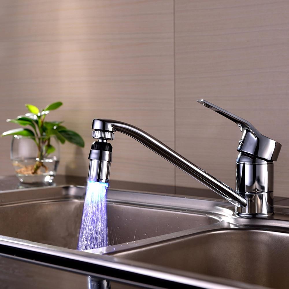 Faucet Light Bathroom-Accessories Temperature Water-Saving Kitchen Tap-Nozzle Color RGB