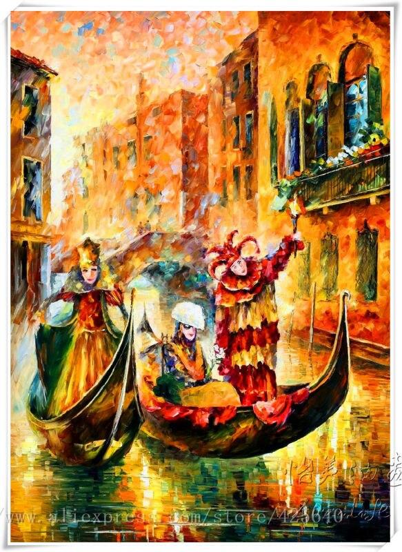 Venise Peinture A L Huile Italien Paysage Peinture A L Huile Sur Toile De Qualite De Hight Main Peint Venise Peinture A L Huile Venise Le Masque Lighting Com S05