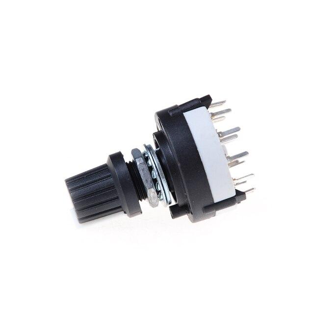 Новый 4P3T однослойные поворотного переключатель диапазонов селектор 4 полюса 3 позиции с ручкой черный Высокое качество