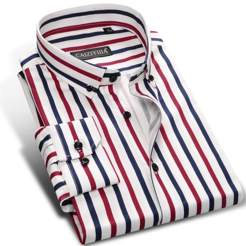 larga sin con botones Camisa cuadros a para manga de hombre bolsillo manga de sin larga BwBx7zq