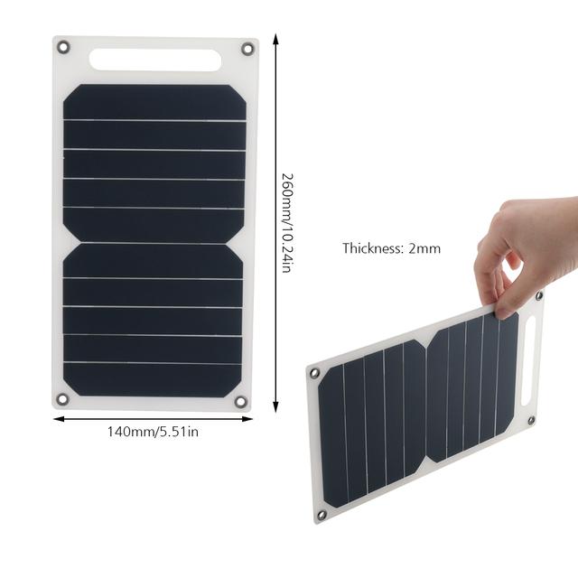 BORUiT 5V 10W Solar Panel DIY Portable Solar Cell Emergency Mini Solar Power System for Cell Phone Headlamp Chargers