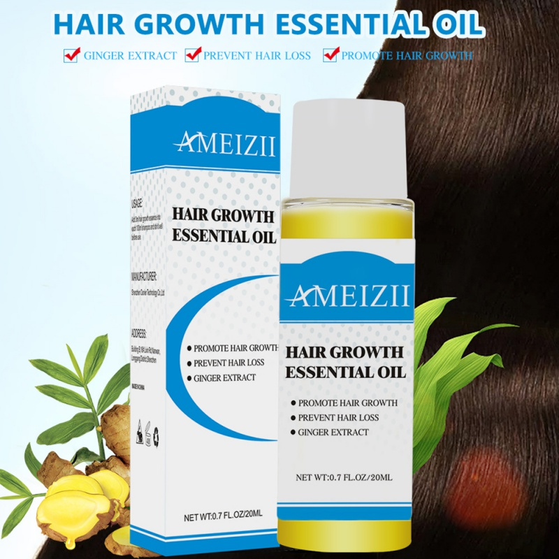 Hair Growth Essential Oil Products Organic Natural Ginger Extract Hair Loss Care