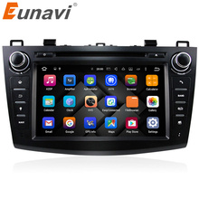 Eunavi 8″ HD Screen 2 din Android 7.1 Quad Core Car DVD Player for 2010 2011 2012 2013 MAZDA 3 stereo radio GPS Navigation wifi