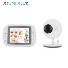 JUNEJOUR Wireless Video Baby Monitor Night Vision Camera Video 3.5inch LCD Sreen Baby Sleep Monitor Baby Camera Music 2-Way Talk 3 5 mini wireless baby camera tft lcd video baby monitor night vision digital video babysitter support 32gb sd card