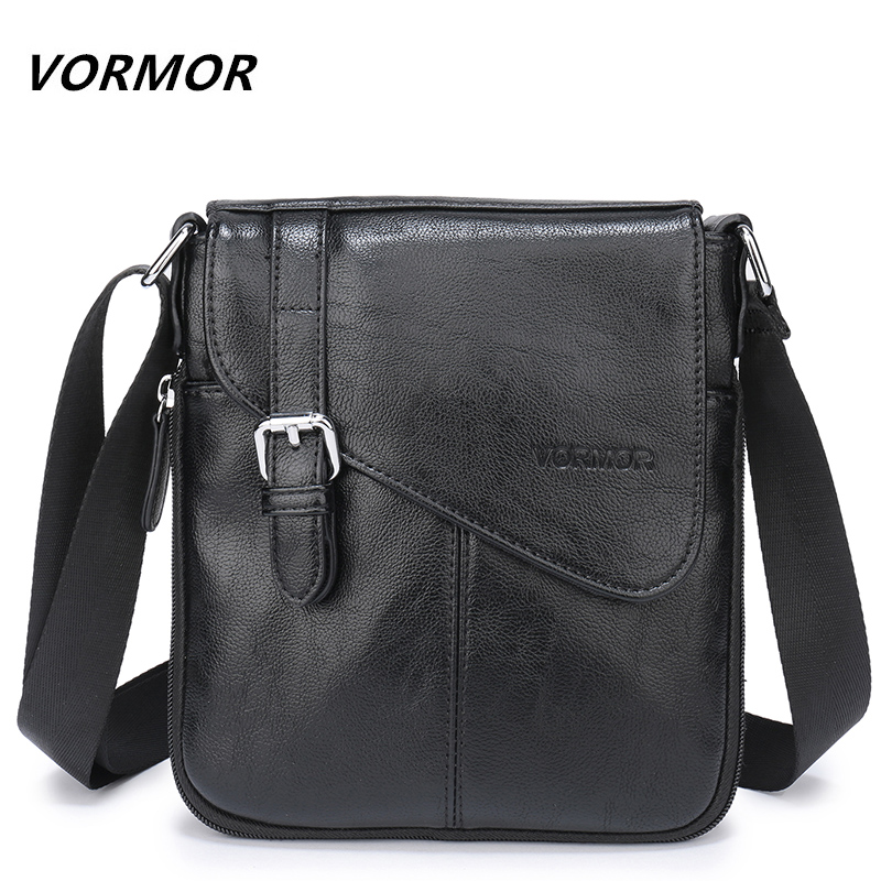 VORMOR Leather Men Bags Male PU Flap Bag Shoulder Crossbody Bags Handbags Messenger Small Men Leather Bag V7745