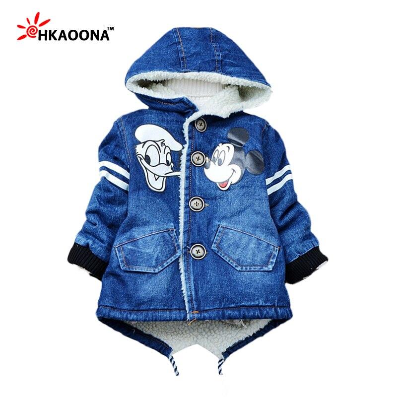 3c80df3a9e6e Winter Autumn Baby Boys Girls Denim Jackets Cartoon Lovely Mouse ...