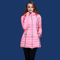 winter white duck down jacket women thickening coat Europe and Russia young girl blue and pink coats with a hood XS 2XL Q310