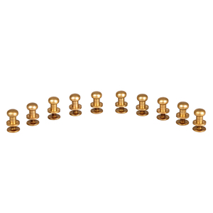 Image 2 - 10pcs Decorative Buttons Leather Tools Brass Bag Rivet Screw Sewing Button Studs botones para manualidades 5/6/7/8/9/10mm